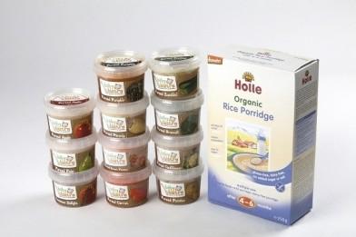 Organic Baby Starter Pack (1 Rice Porridge + 7 Purees)