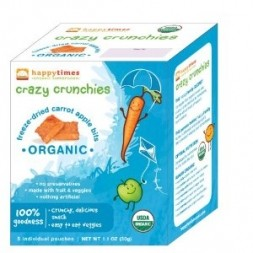 Happy Times Crazy Crunchies - Freeze-Dried Carrot & Apple Bites