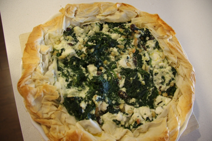 Spinach and cheese tart